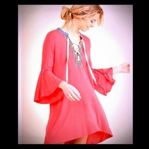 Dresses & Skirts - Strawberry Bell Sleeve T-Shirt Dress NWT